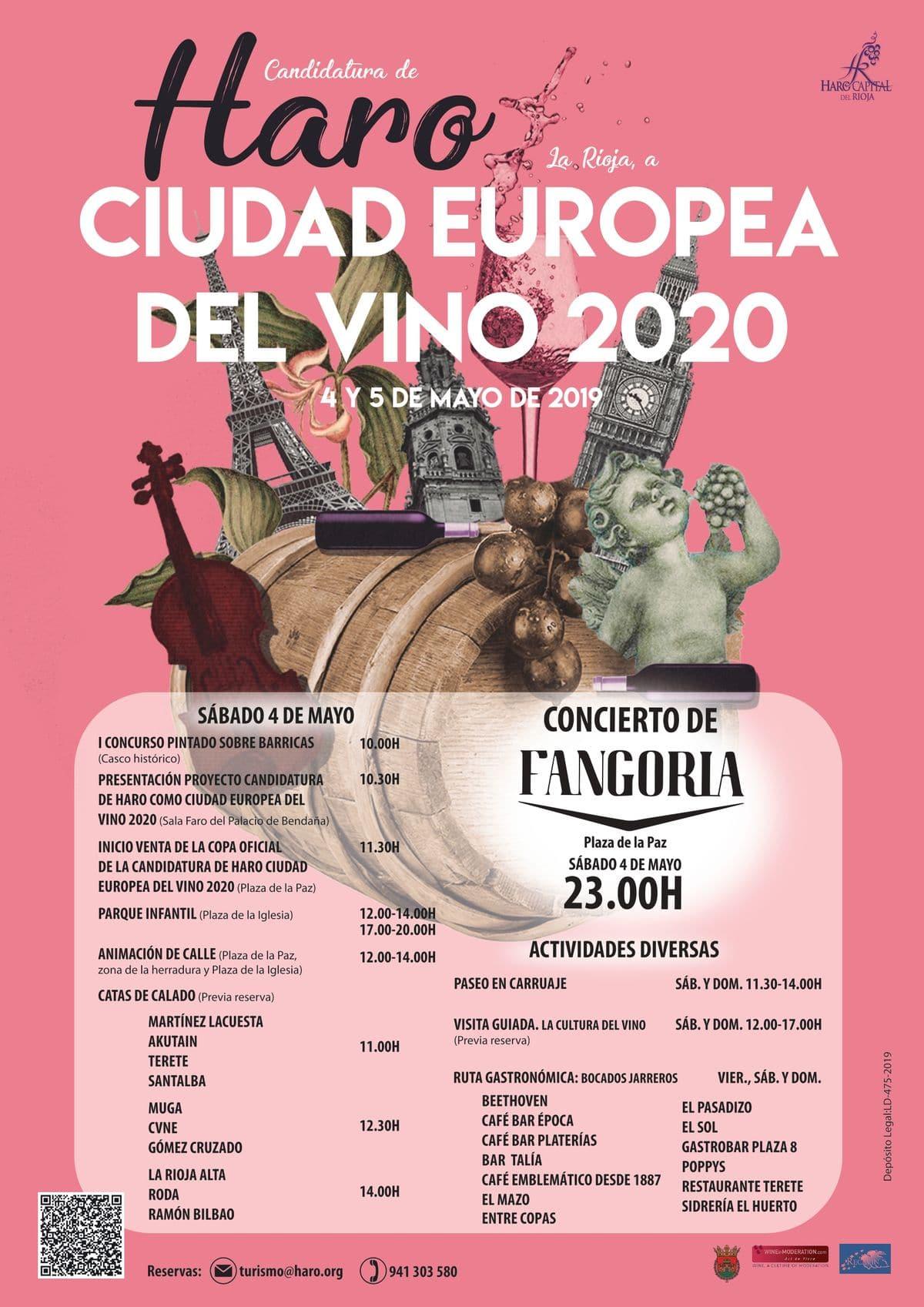 El programa de actividades para presentar la candidatura de Haro a Ciudad Europea del Vino 2