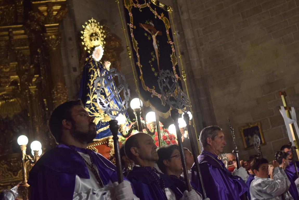 La lluvia obliga a trasladar la procesión de Jueves Santo a la parroquia 28