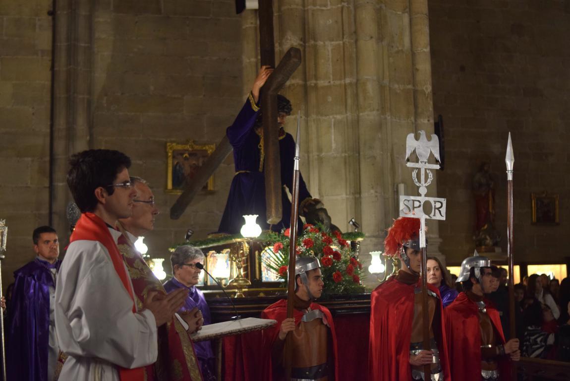 La lluvia obliga a trasladar la procesión de Jueves Santo a la parroquia 27