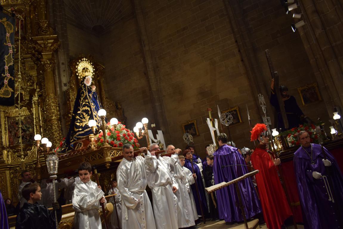 La lluvia obliga a trasladar la procesión de Jueves Santo a la parroquia 10