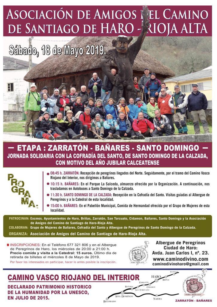 Los Amigos del Camino celebrarán una jornada solidaria con la Cofradía del Santo por el Año Jubilar 1