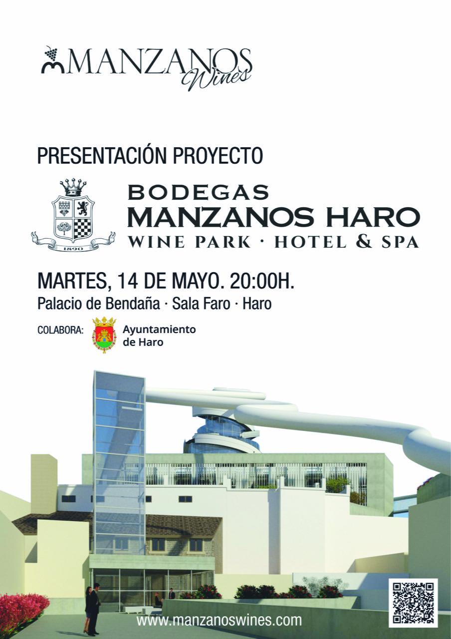 Manzanos Wines presenta el próximo 14 de mayo en el Bendaña su macroproyecto enoturístico para Haro 3