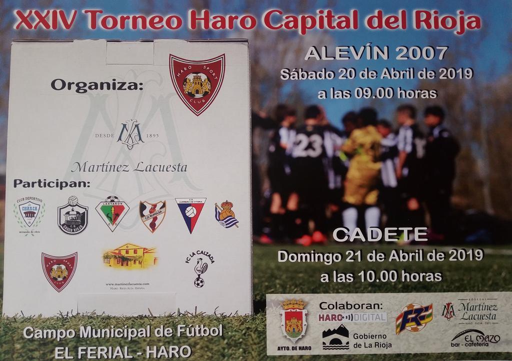 Nueva edición este fin de semana del Torneo de Fútbol Haro Capital del Rioja 1