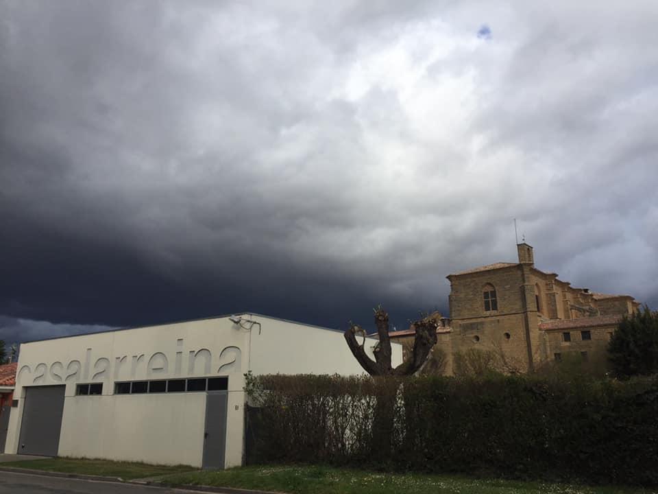 Sábado de tormentas y granizo en La Rioja Alta 1