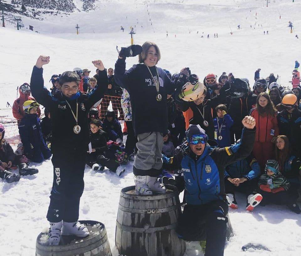 Samuel Capellán se corona campeón de La Rioja benjamín de Snowboard y Alpino 1