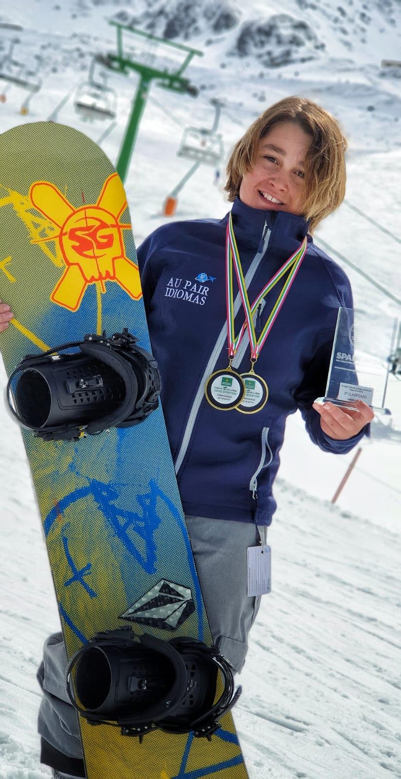 Samuel Capellán se corona campeón de La Rioja benjamín de Snowboard y Alpino 2