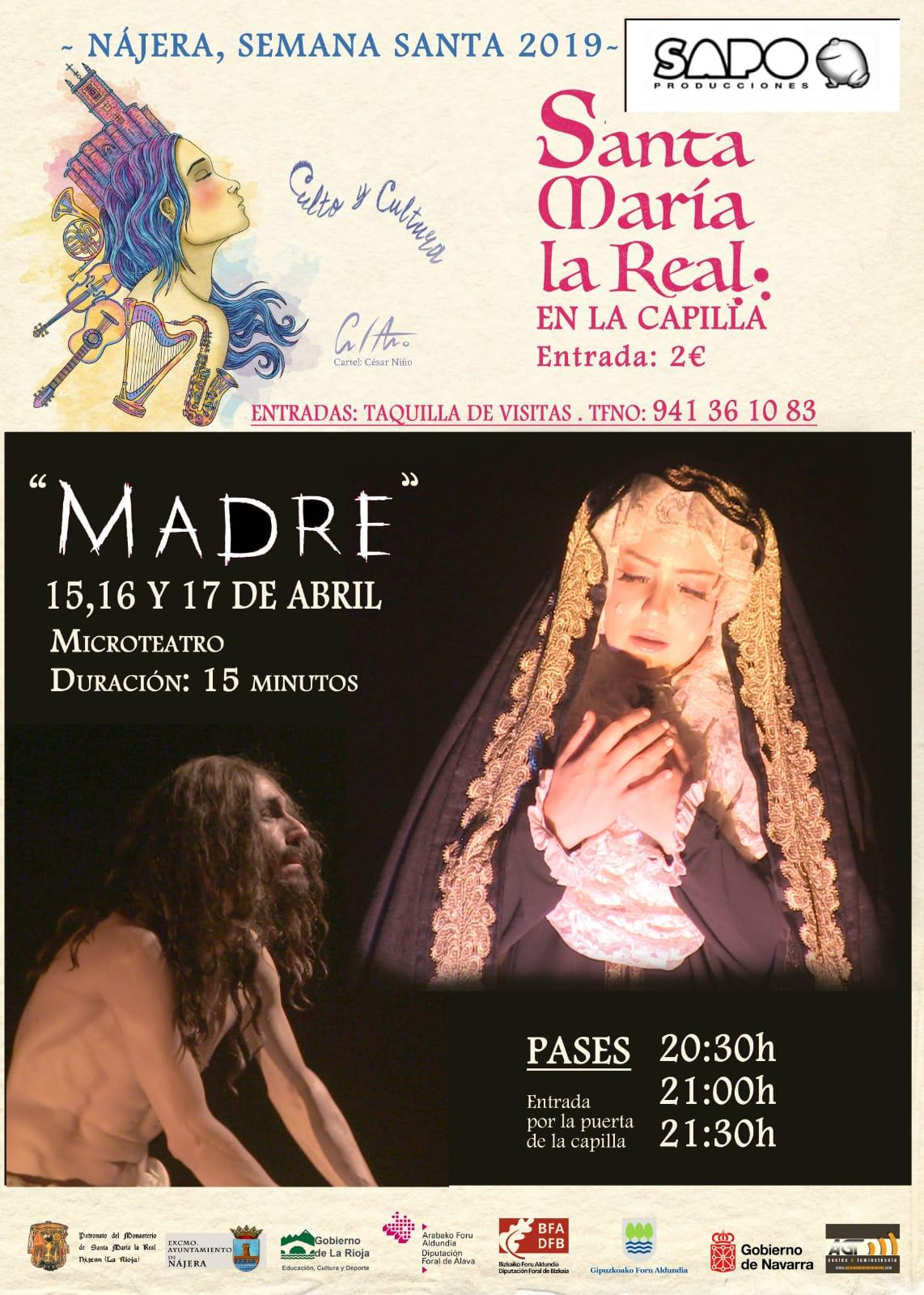 Santa María La Real acoge 'Madre', espectáculo como antesala a la Semana Santa 2