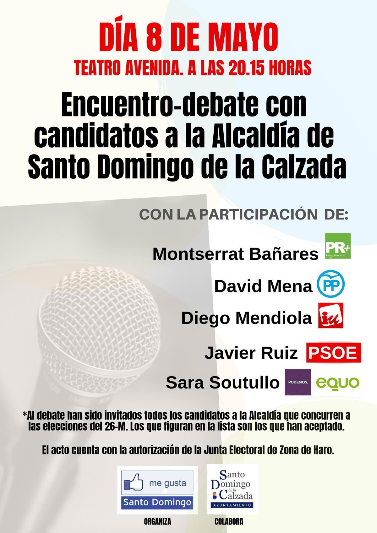 Santo Domingo de la Calzada celebrará un debate electoral el 8 de mayo 1