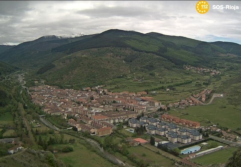 Imagen de Ezcaray de la cámara web de SOS Rioja.