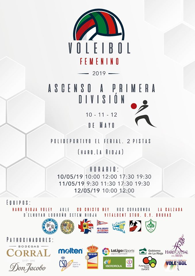 El Ferial acoge desde este viernes la fase de ascenso a la Primera División de voleibol 1