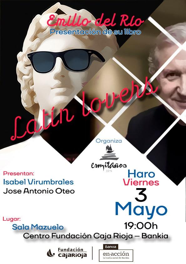 Emilio del Río presenta en Haro este viernes su libro 'Latín lovers' 1
