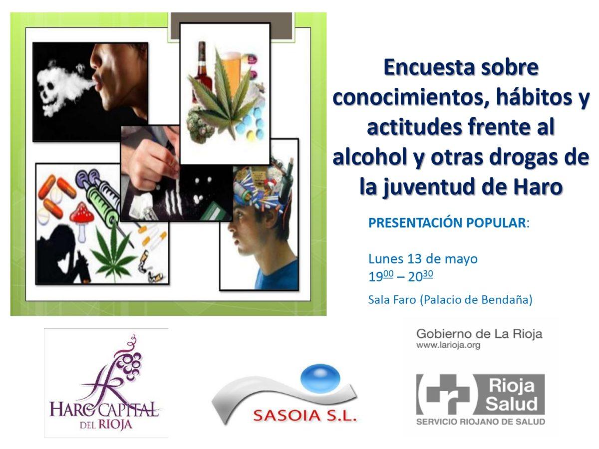 Haro presenta este lunes una encuesta sobre hábitos y actitudes de los jóvenes frente al alcohol y otras drogas 1