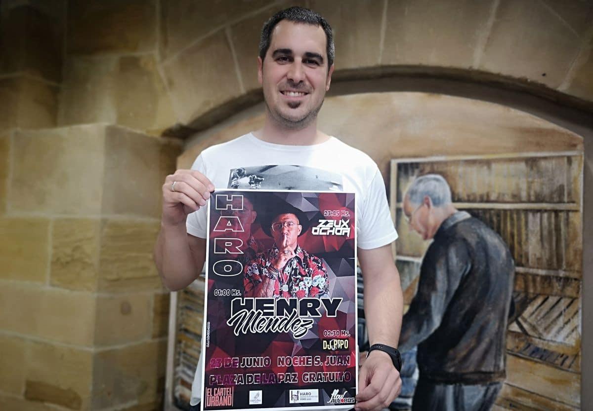 Henry Méndez ofrecerá un concierto en Haro la noche de San Juan 1