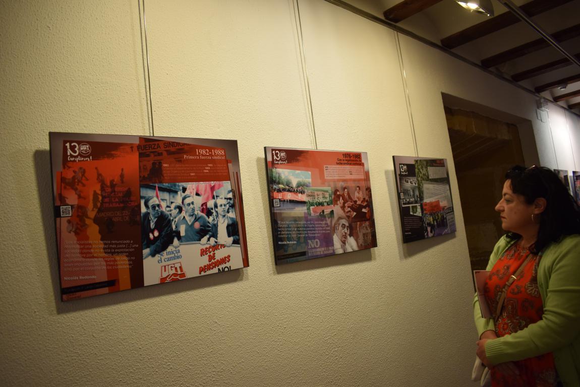 La exposición con motivo del 130 aniversario de UGT llega a Haro 1
