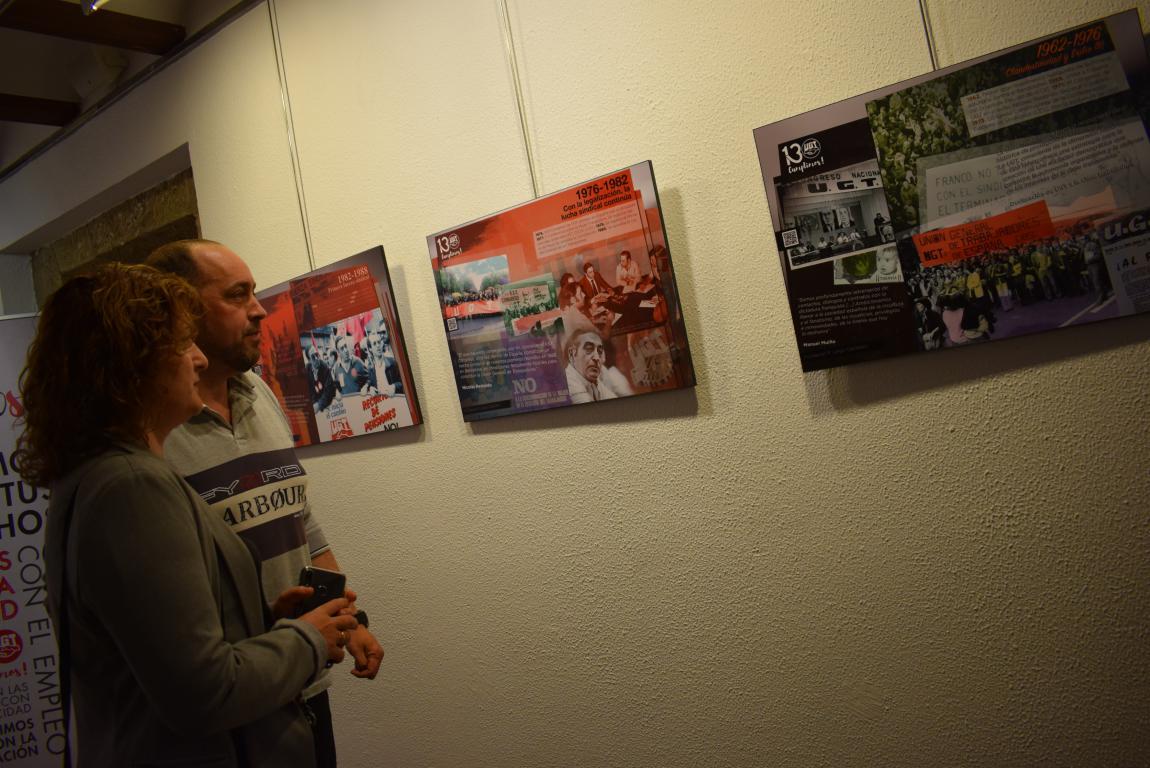 La exposición con motivo del 130 aniversario de UGT llega a Haro 11