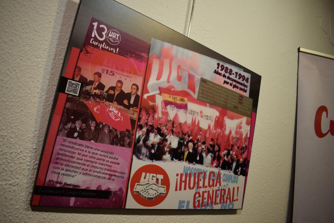 La exposición con motivo del 130 aniversario de UGT llega a Haro 12