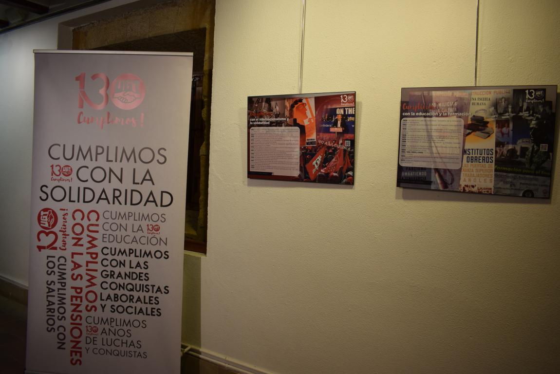 La exposición con motivo del 130 aniversario de UGT llega a Haro 3