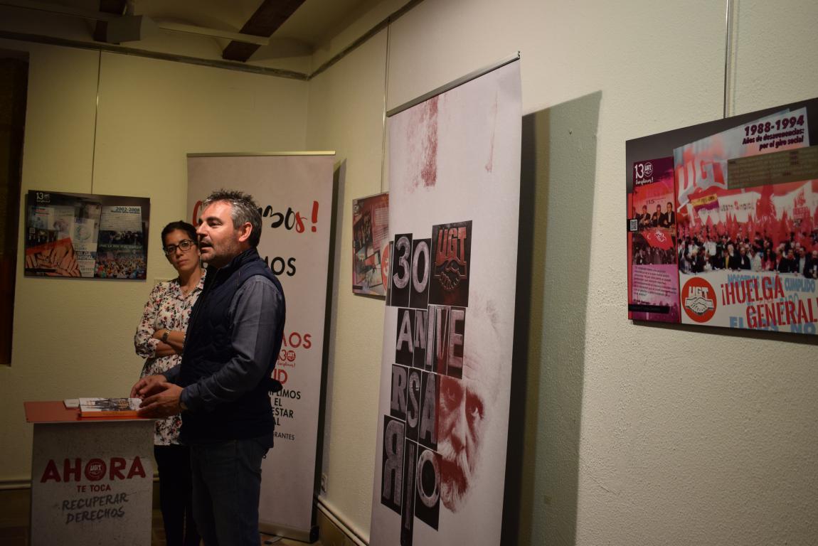 La exposición con motivo del 130 aniversario de UGT llega a Haro 7