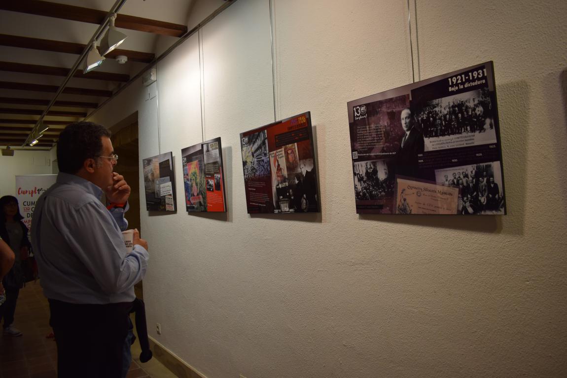 La exposición con motivo del 130 aniversario de UGT llega a Haro 8