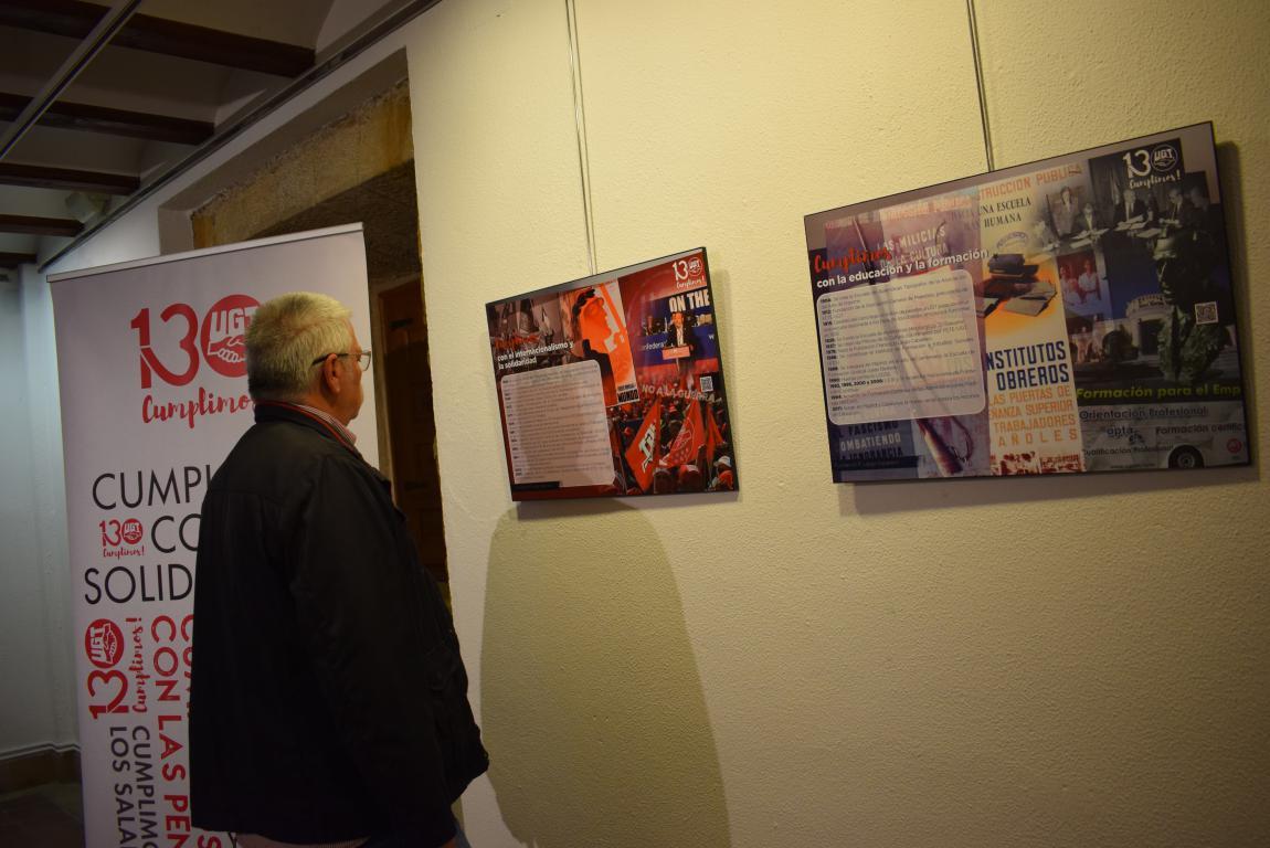 La exposición con motivo del 130 aniversario de UGT llega a Haro 9