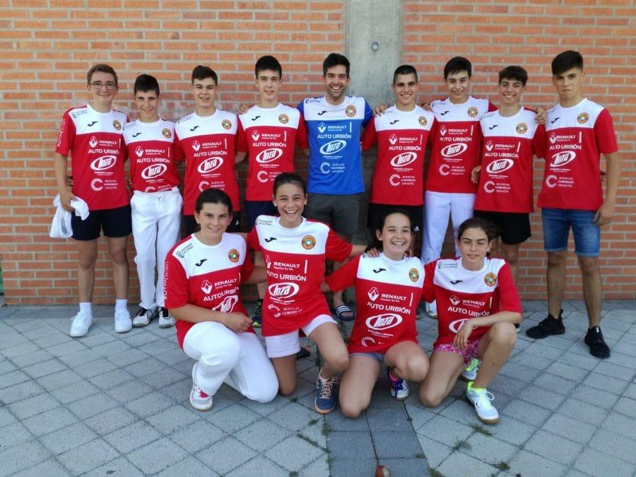 Cuatro pelotaris riojalteñas en el Campeonato de España de Edad Escolar 1