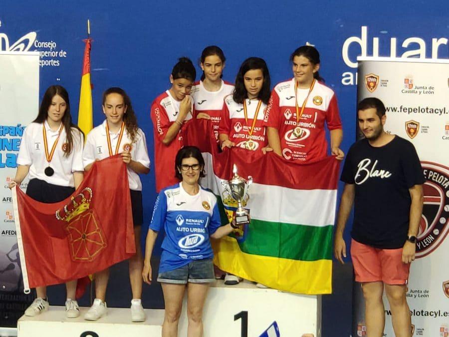 El equipo femenino de pelota, campeón de España de Edad Escolar 1