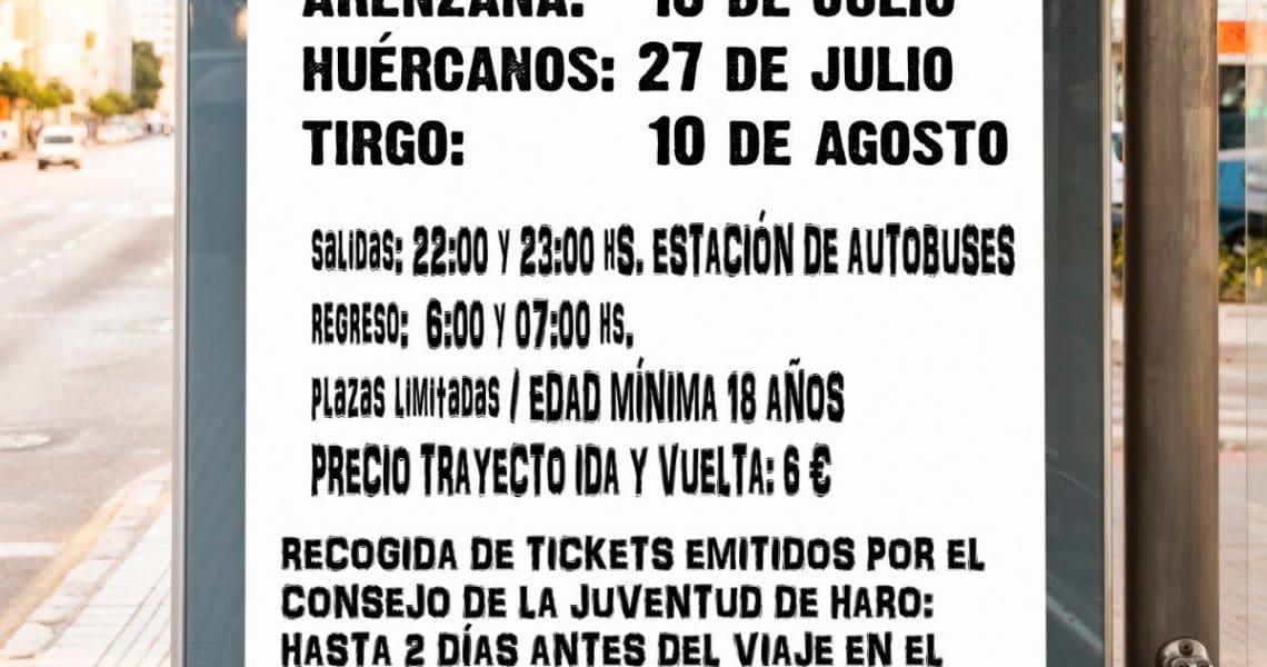 El Ayuntamiento de Haro amplía el servicio de autobús para las fiestas de Huércanos 1