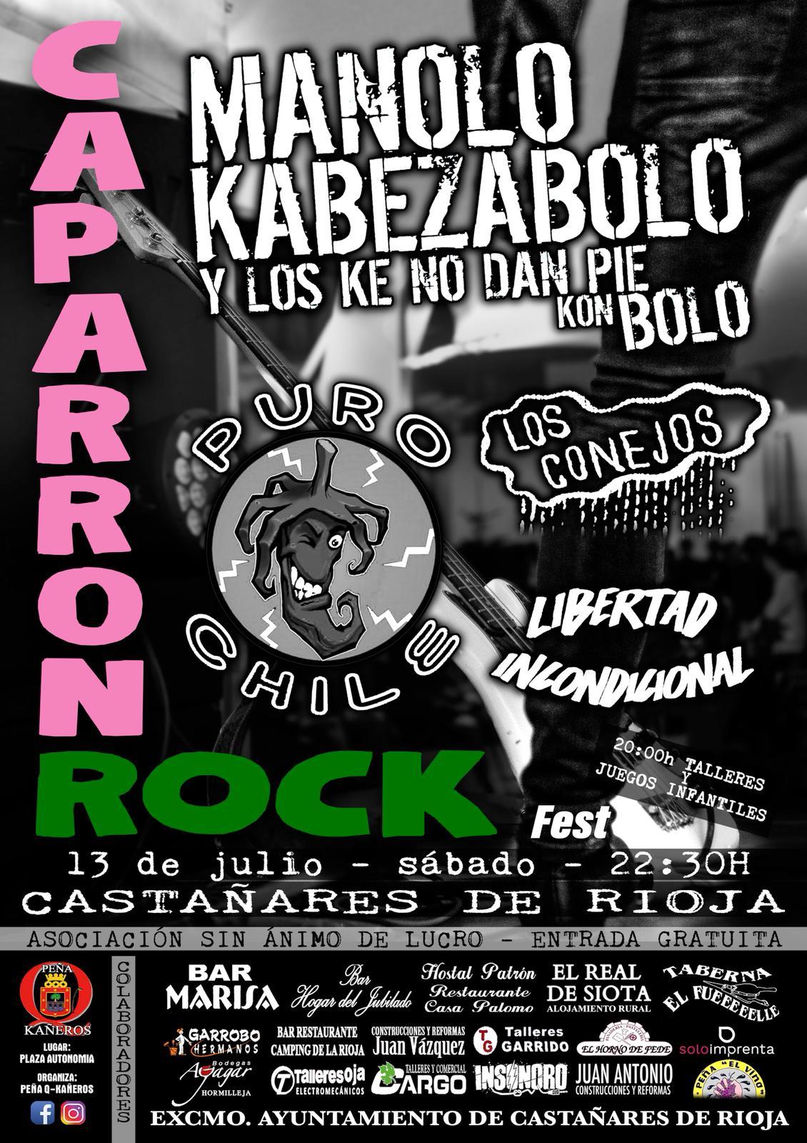 Manolo Kabezabolo comanda el Caparrón Rock Fest que regresa este sábado a Castañares 2