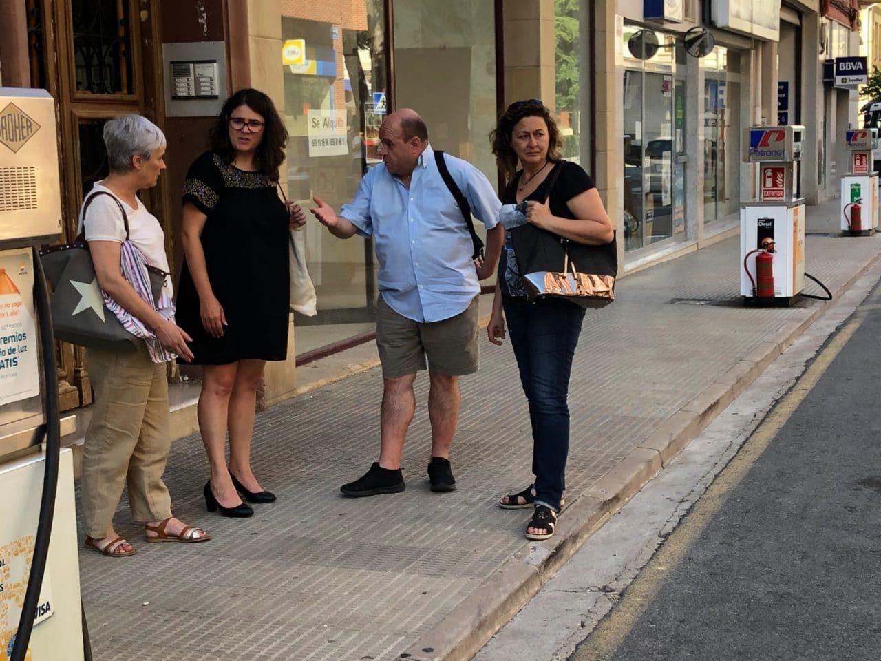 Unidas Podemos trasladará las reivindicaciones de la Asociación 'Gasolinera fuera del centro de Haro' al Parlamento 2
