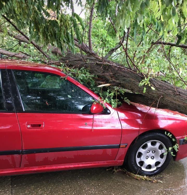 Las tormentas provocan varias incidencias en la comarca de Haro 1
