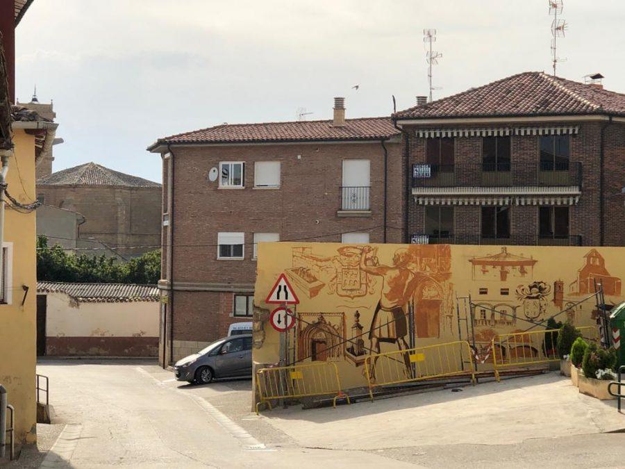 El patrimonio de Casalarreina, a todo color en un mural de José Uríszar 2