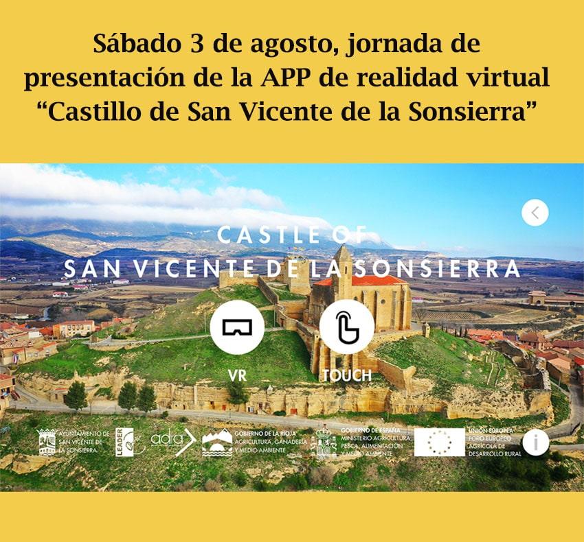 Una aplicación de realidad virtual permitirá visitar el Castillo de San Vicente de la Sonsierra como antaño 1