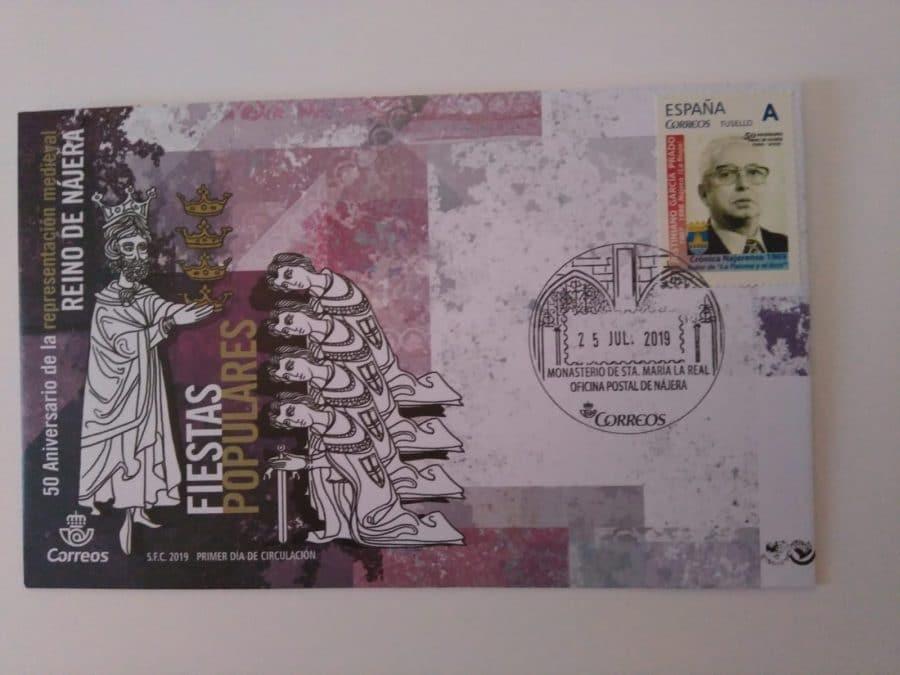 Acona lanza un sello para homenajear al precursor de la Crónica de Nájera 2