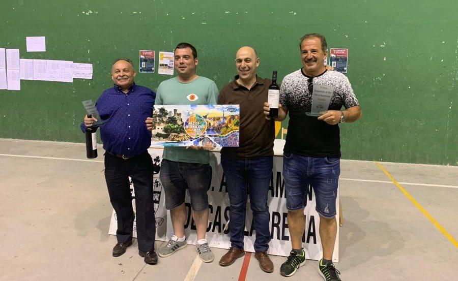 Félix Aguirre y Juan Fernández, ases del mus en Casalarreina 1