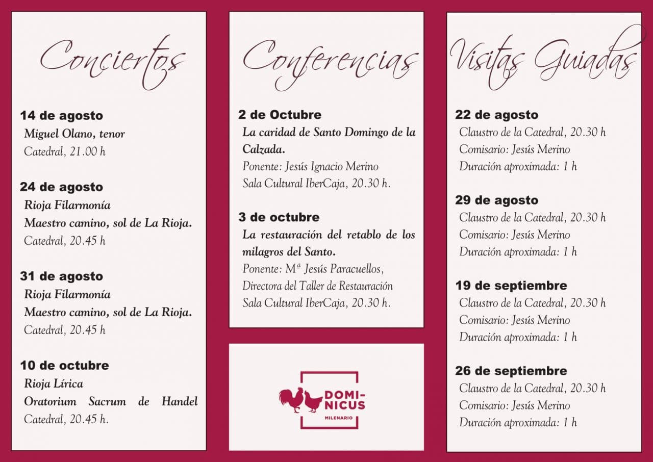 Actividades culturales en torno a la exposición Dominicus de Santo Domingo de la Calzada 1