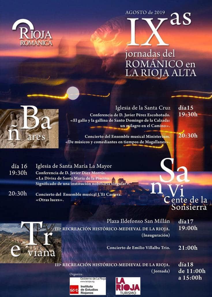 Las Jornadas del Románico en La Rioja Alta llegan este año a Bañares, San Vicente de la Sonsierra y Treviana 2