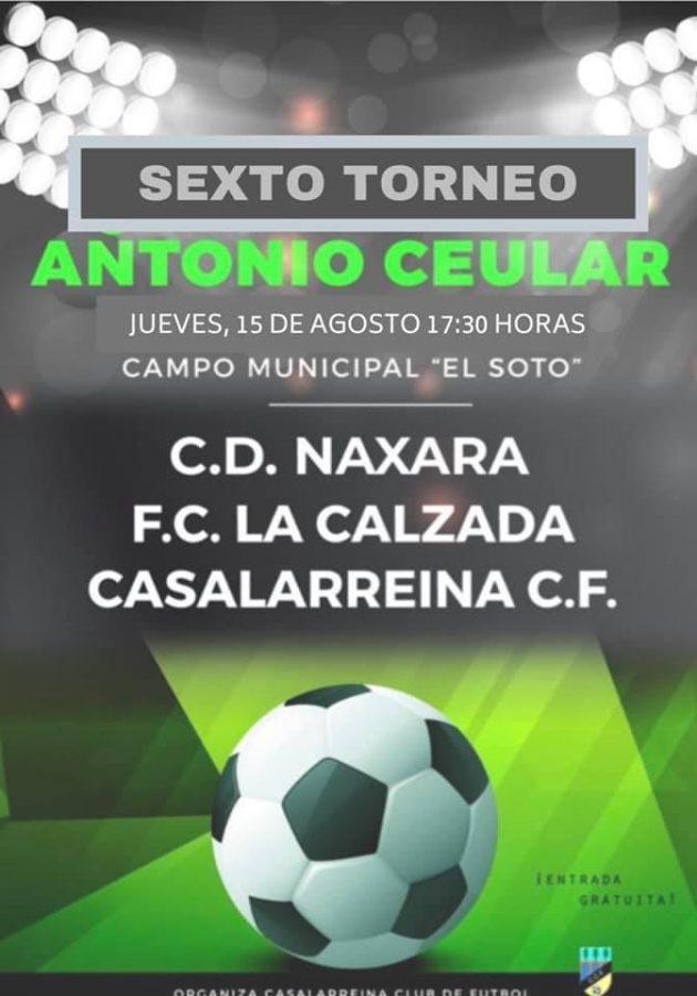 Casalarreina, La Calzada y Náxara disputan este jueves el Torneo Ceular 1
