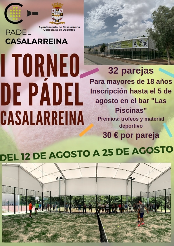 Casalarreina celebrará del 12 al 25 de agosto su primer Torneo de Pádel 1