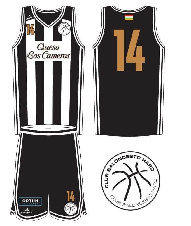 La camiseta del Club Baloncesto Haro será blanquinegra 1