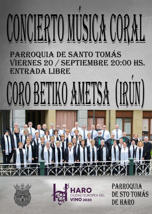 El Coro Betiko Ametsa actúa este viernes en la parroquia de Santo Tomás 1