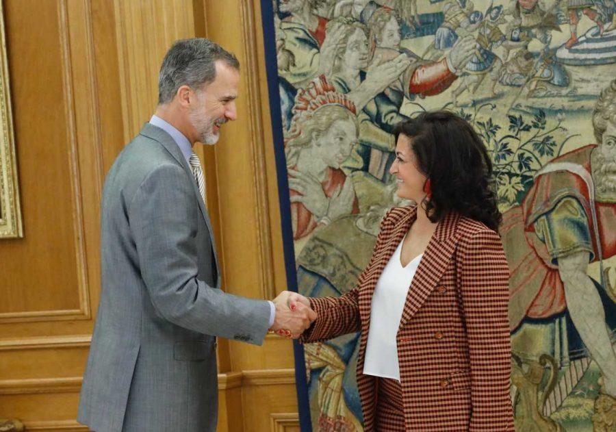 Andreu propone a Felipe VI crear un Instituto Cervantes digital centralizado en La Rioja 1