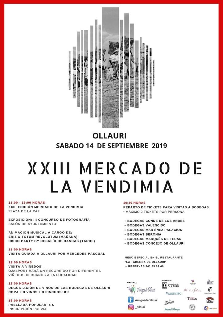 Ollauri Acoge Este Sábado Una Nueva Edición Del Mercado De La Vendimia