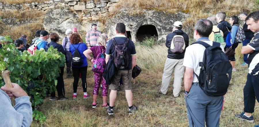 Cerca de treinta personas participan en un nuevo paseo saludable por el entorno de Haro 2