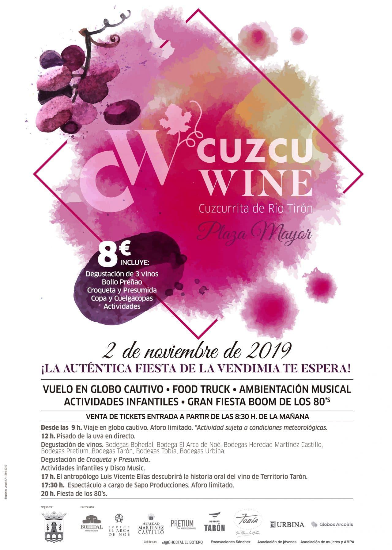 'Cuzcuwine 2019': Cuzcurrita de Río Tirón celebra este sábado una gran fiesta de la vendimia 1