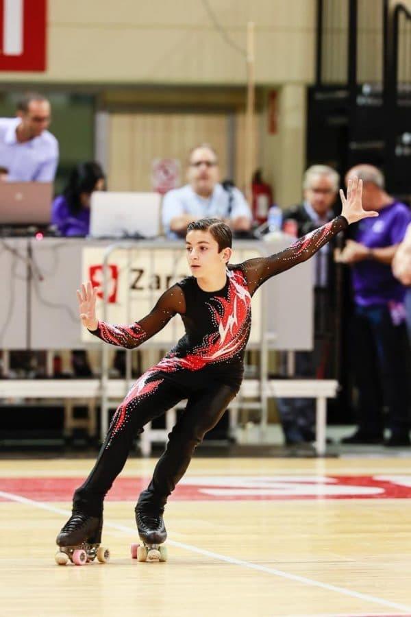 El calceatense Raúl Villarejo, séptimo en el Campeonato de España de patinaje artístico 2