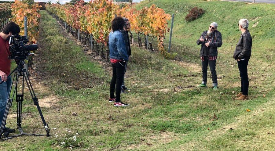 Ariel Rot y El Drogas graban en Bodegas La Rioja Alta 2
