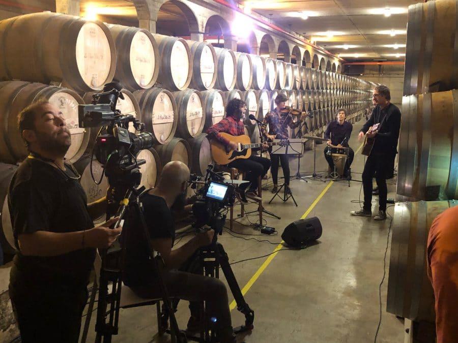 Ariel Rot y El Drogas graban en Bodegas La Rioja Alta 3