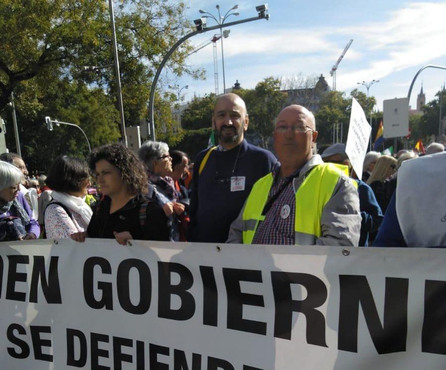Los pensionistas de Haro, representados en la gran manifestación de Madrid 1