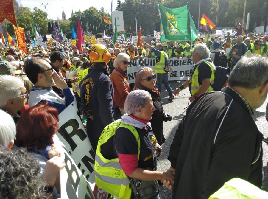 Los pensionistas de Haro, representados en la gran manifestación de Madrid 3