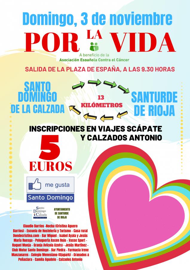 """Cientos de personas caminarán """"por la vida"""" el 3 de noviembre, entre Santo Domingo de la Calzada y Santurde de Rioja 1"""